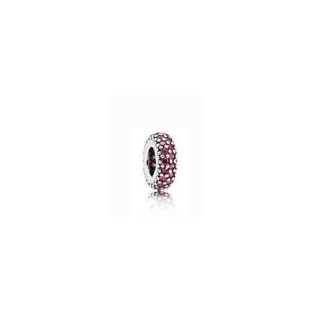 Abalorio Pandora Pavé rojo