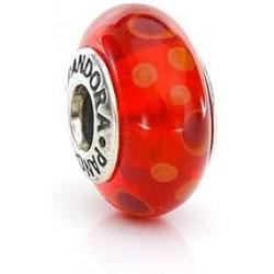 Abalorio Pandora Cristal de Murano Burbujas Rojo Artículo 790690
