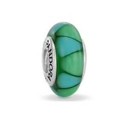 Abalorio Pandora Cristal de Murano Triangulos Verde Artículo 790636