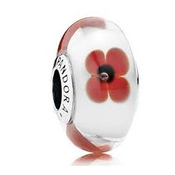 Abalorio Pandora Murano flor roja Artículo 791636