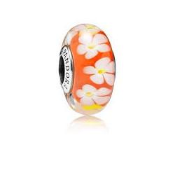 Abalorio Pandora cristal de Murano Flor Tropical Artículo 791624