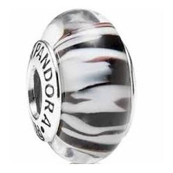 Abalorio Pandora cristal de Murano Flor Morado Cebra 790938