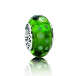 Abalorio Pandora Cristal de Murano Circulos Verde Artículo 790696